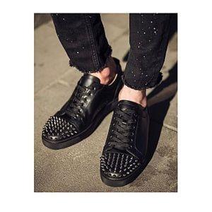 Louboutin Louis Junior Spiked Low-Top Sneakers